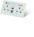 Valiance+® RCD Protected Double Gang White Switched Socket – Active