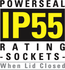 IP55 weatherproof rating -sockets-