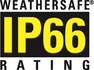 IP66 weatherproof rating