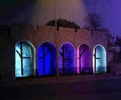 Southampton lights up old city walls